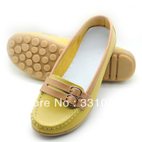 2013 women's cowhide shoes flat single shoes cow muscle soft outsole gommini loafers shoes comfortable maternity shoes
