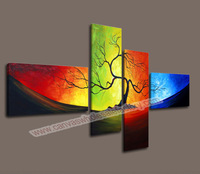 4 Piece Canvas Art Abstract Modern Wall Art Canvas Prints Decorative Painting Canvas Pictures for Living Room -- Modern Painting