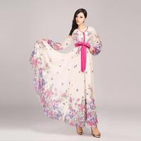 2014 spring new women ultra long one piece dress new fashion chiffon maxi dress Boho style ladies chiffon floor-length dress