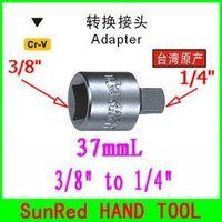 "BESTIR taiwan chromium-vanadium steel L:37mm 3/8"" to 1/4"" hand wrench socket adaptor,NO83949 wholesale high quality freeship"