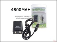 New!! 4800mAh Ni-MH Rechargeable Pack Usb Cable  + 4800mAh Charger Battery for Xbox 360 Controller Free shipping