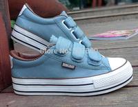 Women's shoes platform elevator velcro canvas shoes casual sport shoes dawdler shoes single