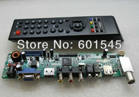 Free Shipping LCD TV universal driver board Universal TV motherboard TV control board, update firmware easily via USB port