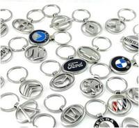 20pcs/lot mix order Grid type ornament series Alloy car logo key chain key ring gift 4 s shop,24 style