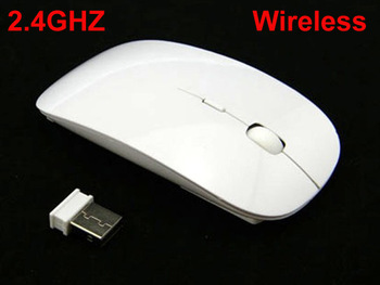 2015 NEW 3D 2.4 GHz Wireless Mouse USB Optical For APPLE Macbook Mac laptop, White Color