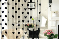 Free Shipping 300cmX300cm Jacquard Love Heart String Curtain Fringe Curtain Room Divider Wedding Drapery CT-02L Whoesale &Retail