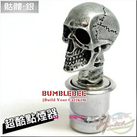 Free Shipping!!Fashion!Skull! resin Universal, Car Cigarette Lighter,cigarette lighter socket ,(silver)C-007