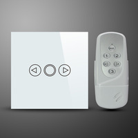 (White Color) Smooth Touch Dimmer Remote Control Switch,Free Shipping Smart Switch