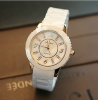 Hot selling 2014 Genuine real Ceramic WristWatch For lady Fashion Quartz Women dress White Watches