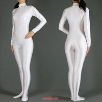 Wonderful!!! S-XXL New Lycra zentai spandex catsuit White --Wholesale Price