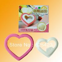 Hot Sale! Free Shipping Brand New Love Heart Shape DIY Plastic Sushi Mold for Sandwish Sushi Maker & Sandwish Mould for Lovers