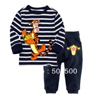 Wholesales New Arrival 6sets/lot 2013 Baby Long sleeves cotton pajamas kids pyjamas children sleepwear tiger baby clothes