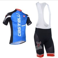 13 new castelli blue cycling colthing Cycling jersey Quick Dry and Breathable fabric Bike clothes,cycling jersey  bib Shorts