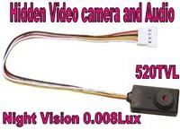 Freeshipping,0.008Lux 520TVL Mini CCTV Camera High Resolution Security Camera