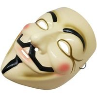 1 pc Quality Yellow Guy Fawkes Vendetta mask