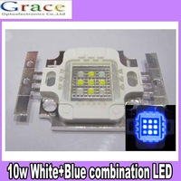 5pcs 10W Square Actinic Hybrid Cool White 10000K+Royal Blue 450nm-455nm High Power LED Light Bulb