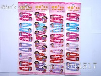 Free Shipping  Girls Dora Prong Pin Barrette Baby  Lots Mix color
