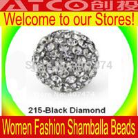 Wholesale Lose Money Sale Mixed Shamballa Beads 12mm AB Clay Crystal Shamballa Disco Pave Crysta Balls Free Shipping XX215