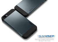 SLIM ARMOR SPIGEN SGP Case for iPhone 5 Hard Back Cover Skin,Original Box & Free Screen Protector