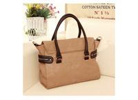 Free Shipping 2013 Females Vintage Fashion Elegant Casual Buckle Bag Color Block Cross-Body Women's Handbag