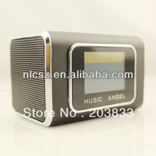Free shipping + New Music Portable Mini USB Micro SD/TF Mp3 Player with screen digital computer speaker(China (Mainland))