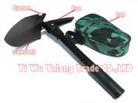 1pc hot Sale Mini Multi-function Folding Shovel Survival tools Camping Outdoor army shovel Free shipping