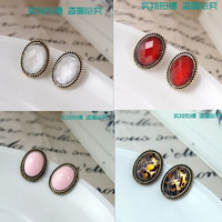 24pcs/12pairs 2013 New Vintage Retro European Style Round Crystal Stud Earring for Women Lady 4 Colors Avalaible Wholesale price