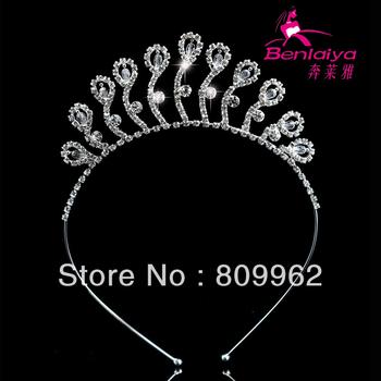 2013 News 4pcs/lot Free Shipping Peacock Crystal Jewelry Fashion Princess Tiara/Crown Girls Wedding Hair Accessory 111673