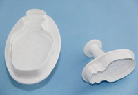 Free Shipping 2 pcs Snowman Plunger Cutter Mold Fondant Cake Decorating Kitchen Tool