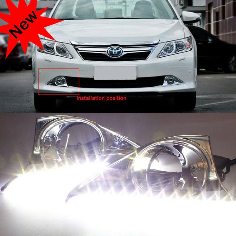 Hot sale! 2012 Super bright Luxury Toyota Camry LED daytime running light Free shipping(China (Mainland))
