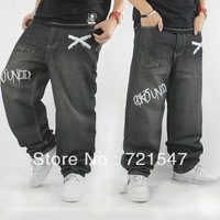 oose mens jeans denim 2012 with print, hip hop wear plus size jeans men, size 30-46 for fat man, free shipping