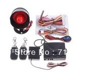 Car alarm security system 1-Way Car Alarm Protection System with 2 Remote Control auto burglar alarm system free shipping