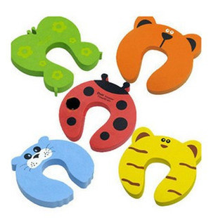 Free Shipping 20pcs/Lot Child kids Baby Animal Cartoon Jammers Stop Door stopper holder lock Safety Guard Finger Protect WX-04