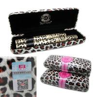 LOVE ALPHA Waterproof Mascaras Gel with Fiber Set Eye Black Leopard Print Case 1set=2pcs
