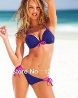 2013 swimwear sexy bathing suit swim wear beach bikini swimsuit patchwork push up swimming suit bandage for women Freeshipping