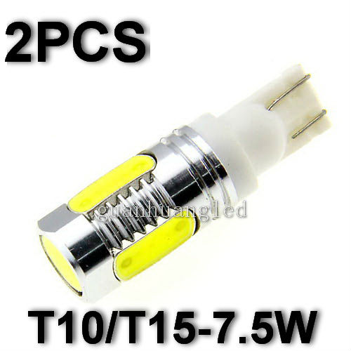 20pcs Wholesale Guaranteed New T10 T15 7.5W Lens Cree Q5 High Power Car Signal Tail Turn LED Light Bulb White Free Shipping(China (Mainland))