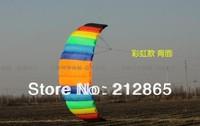 Free Shipping!!Hot 2.6m 2 Line Stunt Parafoil POWER Sport Kite/ Rainbow colors