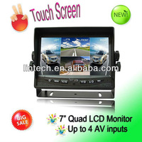 Quad function 7 inch touch screen LCD monitor