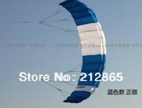 Free Shipping!!Hot 2.6m 2 Line Stunt Parafoil POWER Sport Kite/  Blue
