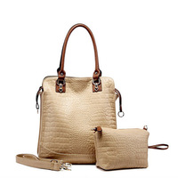 2013 New arrival hot sell fashion Women tote Bags 4 colors bag in bag Handbag Crocodile grain brand designer shoulder bag