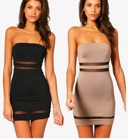 New Fashion Elegant Sexy Women Absolute Fit Clipping Chest Tight Mini Dresses D0077