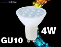 LED GU10 4W free shipping 85-265V high-power energy-saving lamps, light adjustable 3W 4W 9W 12W