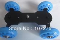 Free shippment Retail and whosale Mini Desktop DSLR Camera Vedio Photograph Rail Track Slider Table Dolly Car