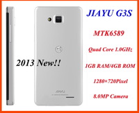 "2013 NEW!!!  JIAYU G3S   4.5"" HD 1280x720 Screen Android 4.0 OS MTK6589 Quadl Core 8MP Camera GPS free shipping"