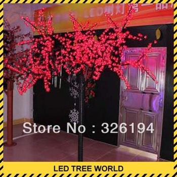 1296pcs led cherry tree light 220*200cm have red yellow blue green white purple pink light 100w power led willow tree lamp