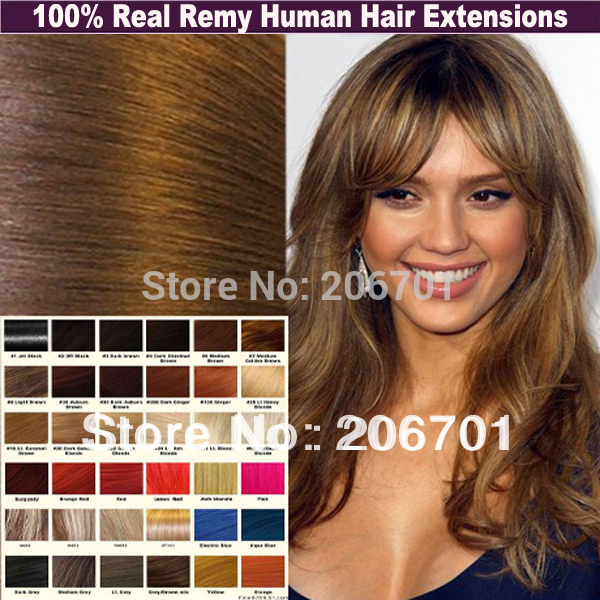 Medium Brown and Light Blonde Free Shipping Clip in Human Hair Extension Mix Color Straight Real Remy 22&#39;&#39; 7pcs/80g #4/613(China (Mainland))