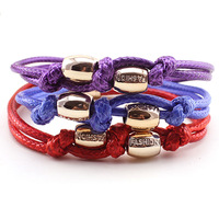 Free Shipping  fashion cheap trendy jewelry wholesale handmade cord rope leather bracelet B1-083