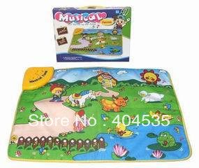 Musical Farm educational blanket toy /children&#39;s play mat/ crawling baby blanket game blanket with animal sound Free shipping(China (Mainland))