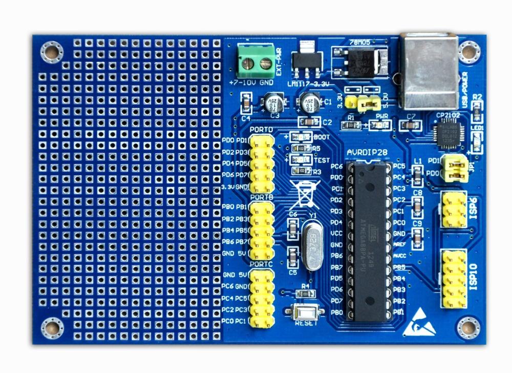AVR development board ReadyAVR-28 for ATmega8 mega8 comes with USB bootloader(China (Mainland))