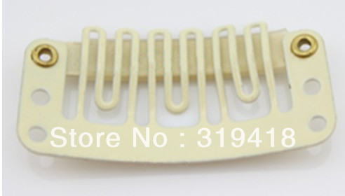 Hot selling!wig clip,Hair clip,clips,metal clip for Hair Extensions 28mm long 1000pcs free shipping(China (Mainland))